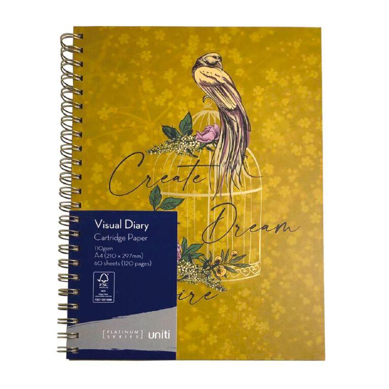 Uniti Platinum Visual Diary Spiral Create Dream Inspire A4, , hi-res