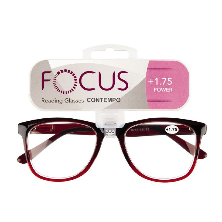 Focus Reading Glasses Contempo 1.75, , hi-res