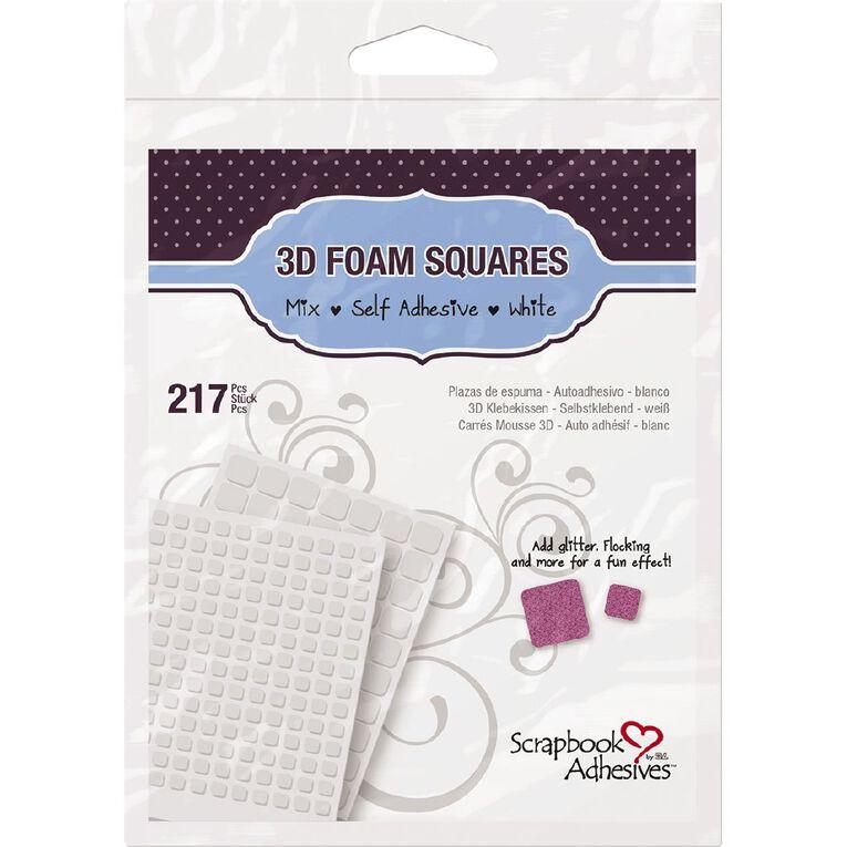 3L Scrapbook Adhesives Foam Squares Mixed 217 Pack White, , hi-res