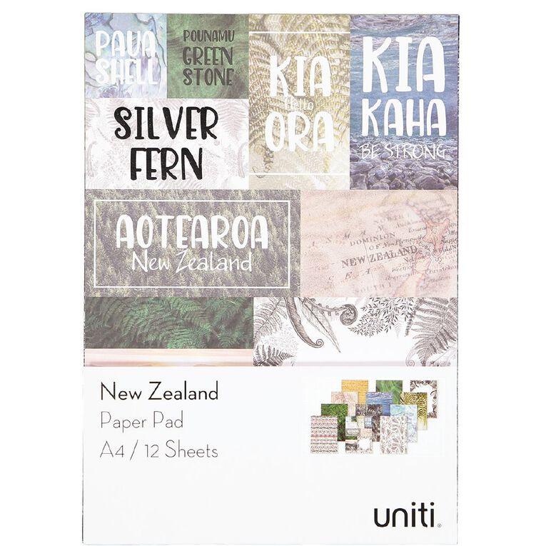 Uniti New Zealand Paper A4 12 Sheets, , hi-res