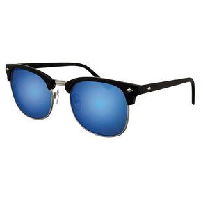 H&H Essentials Browbar Blue Mirror Sunglasses