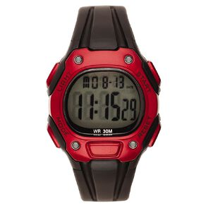 Active Intent Sports Digital Watch Black Red