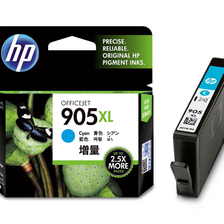 HP Ink 905XL Cyan (825 Pages), , hi-res