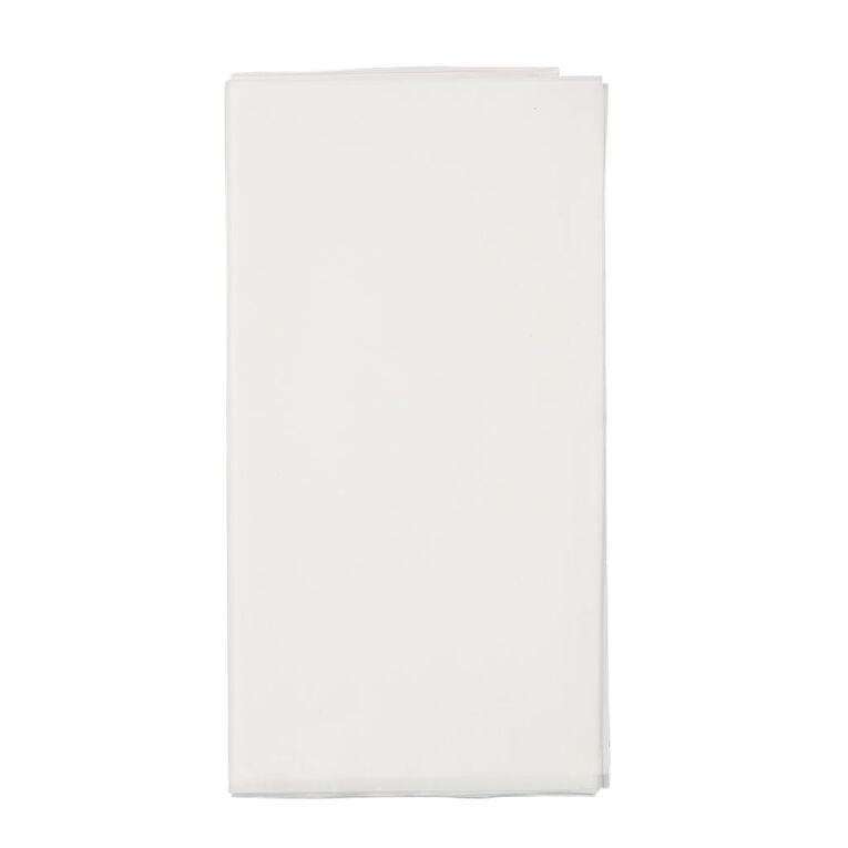 Party Inc Plastic Tablecover 137cm x 274cm White, , hi-res