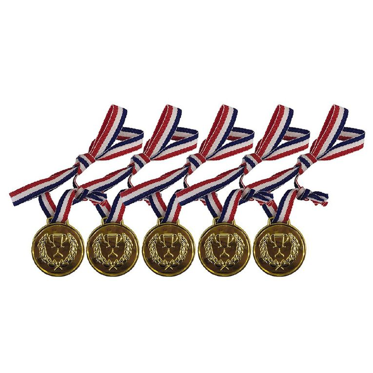 Party Inc Party Favours Winner Medal 5 Pack, , hi-res