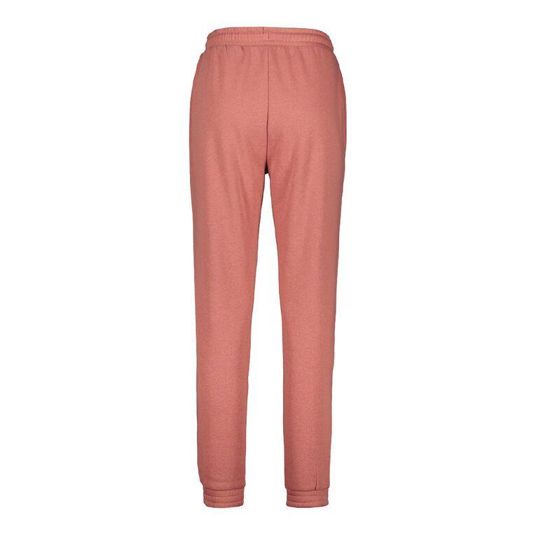 H&H Women's Elastic Fleece Trackpants, Brown Mid, hi-res image number null