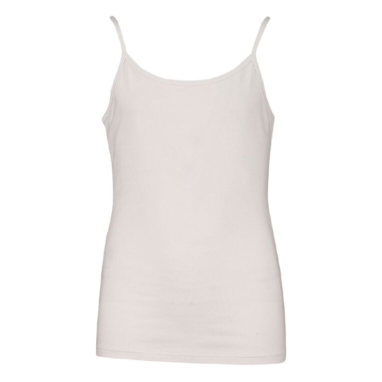 Young Original Singlet Cami Two Pack, White, hi-res