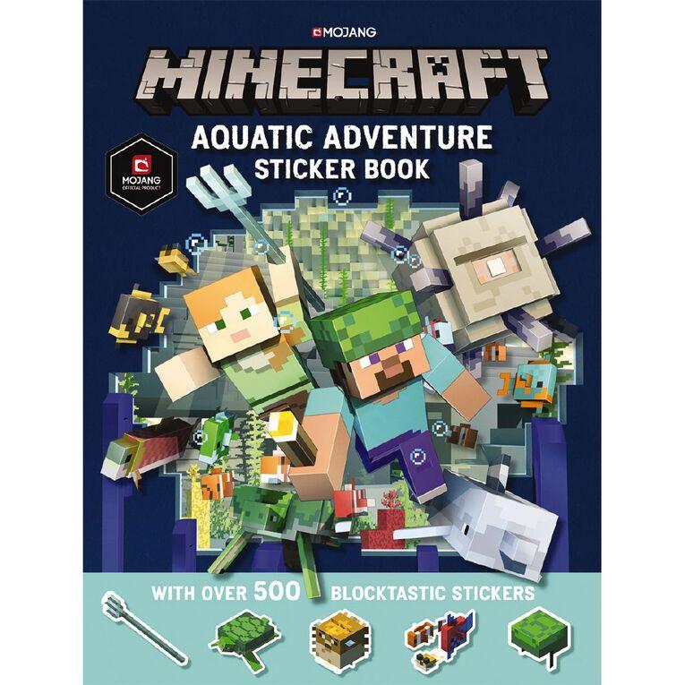 Minecraft Aquatic Adventure Sticker Book, , hi-res