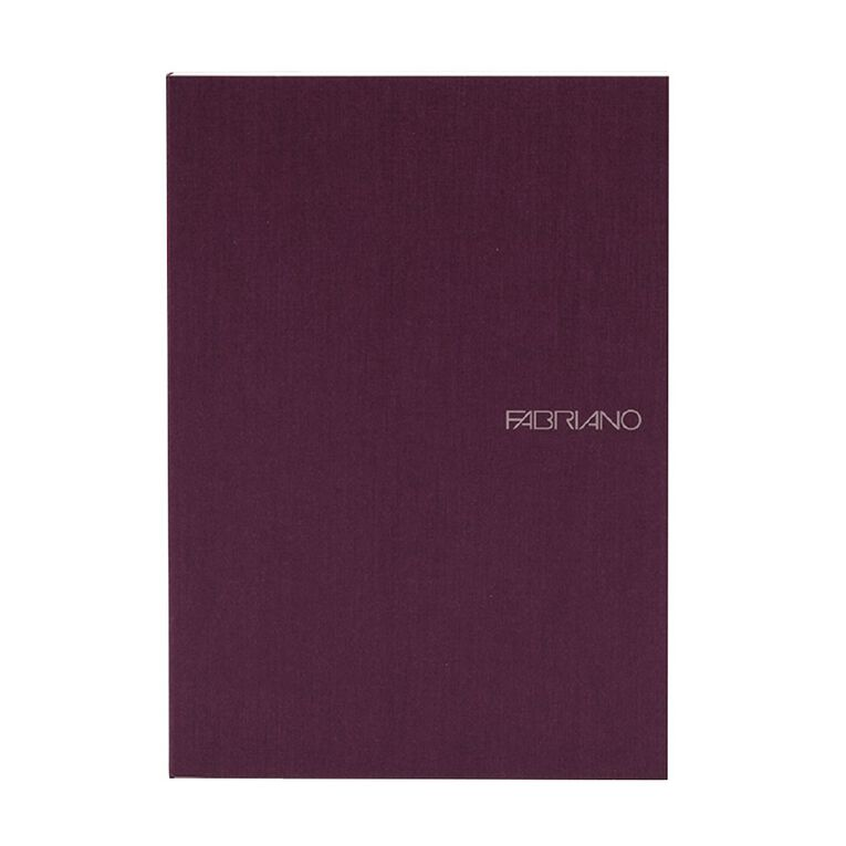 Fabriano Ecoqua Sketchbook Dotted 85GSM 90 Sheets Wine A5, , hi-res image number null