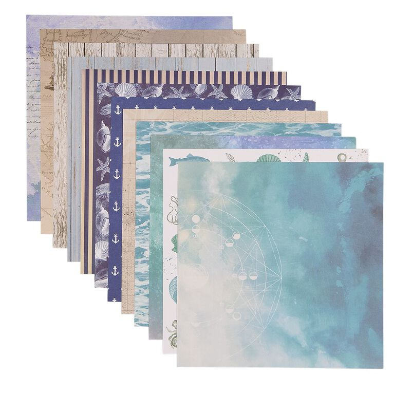 Uniti Designer Paper 12x12in 12 Sheets Oceania, , hi-res