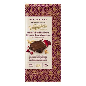 Whittaker's Hawkes Bay Plum and Roasted Almond Dark 100g