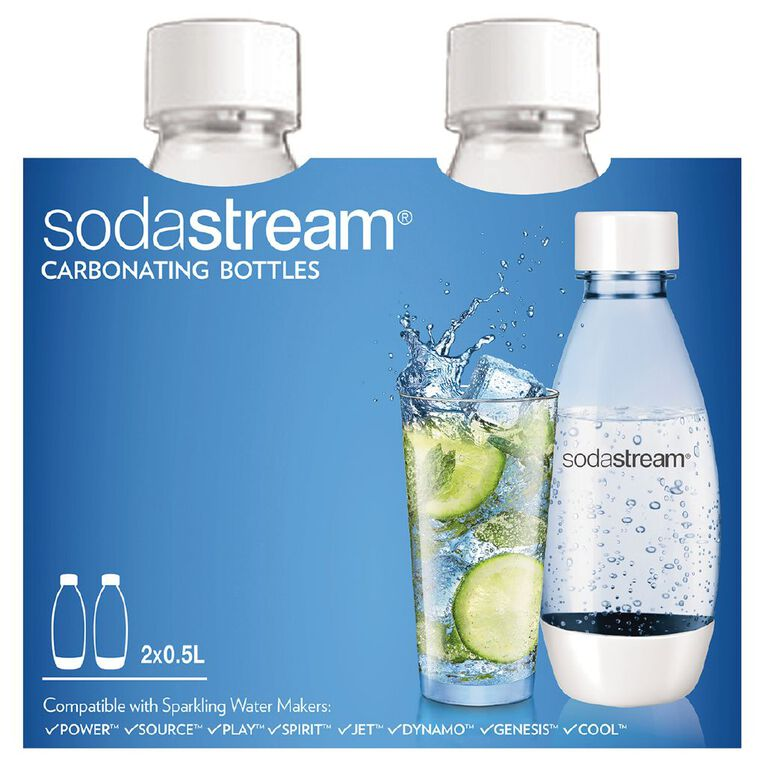 Sodastream Carbonating Bottle Source 500ml White 2 Pack, , hi-res image number null