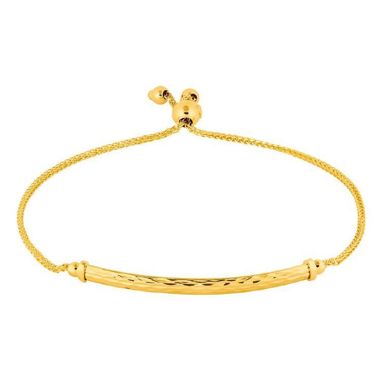 9ct Gold Patterned Friendship Bracelet, , hi-res