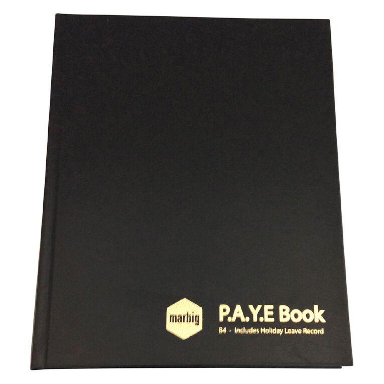 Marbig Wages & Paye Book B4 Hard Cover Black, , hi-res
