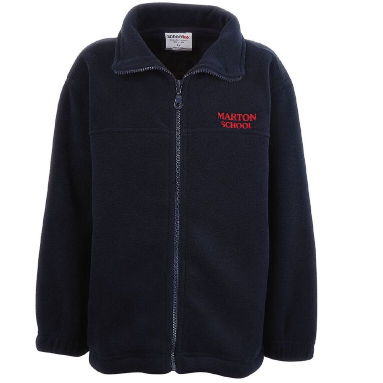 Schooltex Marton School Polar Fleece Jacket with Embroidery, Navy, hi-res