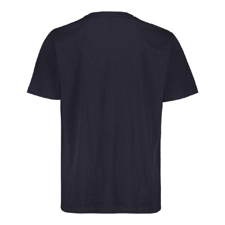 H&H Crew Neck Short Sleeve Printed Tee, Navy EXPLORE, hi-res
