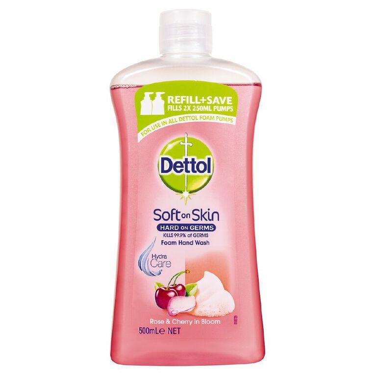 Dettol Foam Rose & Cherry Refill 500ml, , hi-res