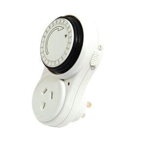 Edapt 24 Hour Mechanical Timer White