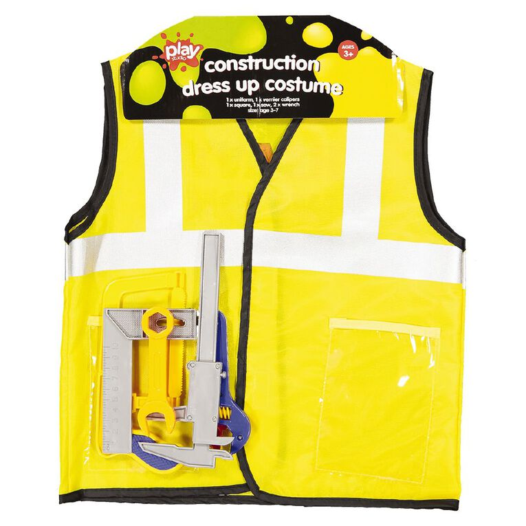 Play Studio Construction Worker Costume with Tool Set Size 3-7, , hi-res image number null