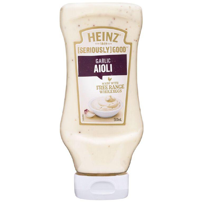 Heinz Seriously Good Aioli Squeezy 500ml, , hi-res