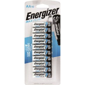 Energizer Max Plus Advanced Batteries AA 10 Pack