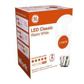General Electric B22 LED Classic 13.2W Warm White Light Bulb 2 Pack