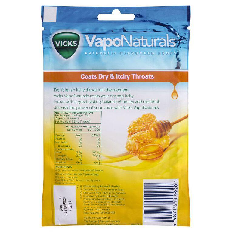 Vicks VapoNaturals Honey Drops Naturally Flavoured 19s Resealable Bag, , hi-res