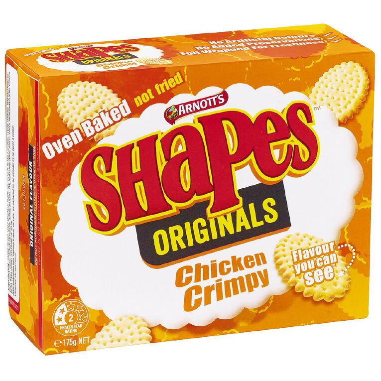 Arnott's Shapes Chicken Crimpy 175g, , hi-res image number null