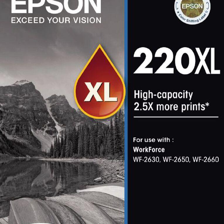 Epson Ink 220XL Black (500 Pages), , hi-res