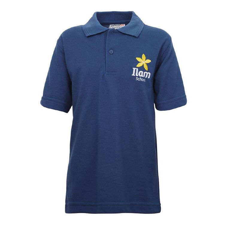 Schooltex Ilam Short Sleeve Polo with Embroidery, Royal, hi-res