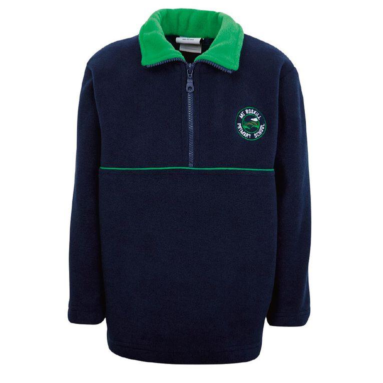 Schooltex Mt Roskill Primary School Polar Fleece Top with Embroidery, Navy/Emerald, hi-res