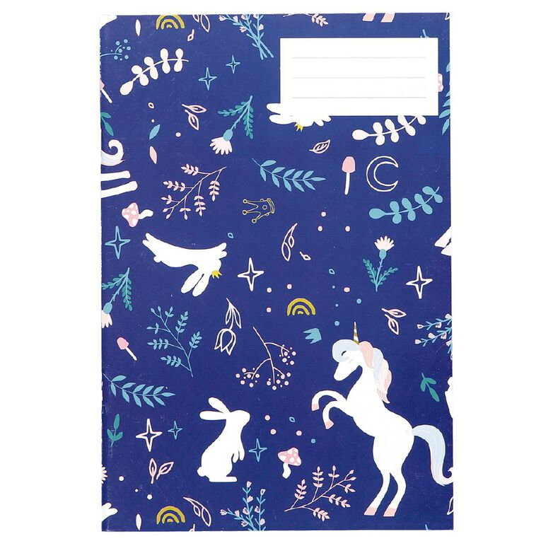 Kookie Enchanted Exercise Book Navy A5, , hi-res