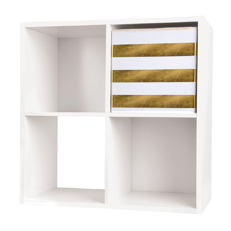 Living & Co Mason Cube Storage Insert Gold Stripe, , hi-res
