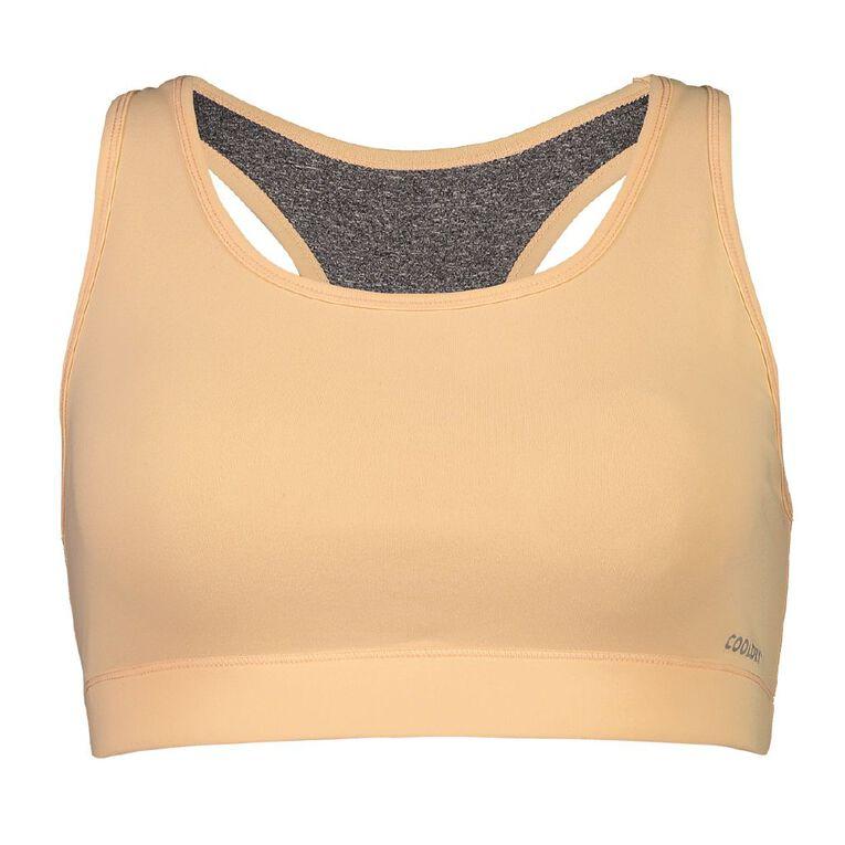 Active Intent Women's Reversible Racer Back Crop Top, Orange Light, hi-res image number null