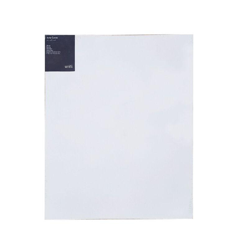 Uniti Blank Canvas 280gsm (16in x 20in) 40cm x 50cm, , hi-res