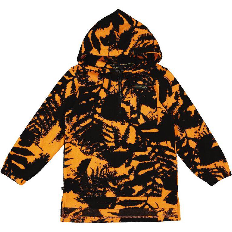 Back Country Microfibre Hooded Sweatshirt, Orange, hi-res