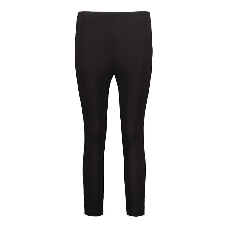 Pickaberry Women's Smart Knit Pants, Black, hi-res