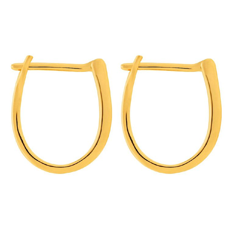 0.10 Carat Diamond 9ct Gold Channel Set Hoop Earrings, , hi-res
