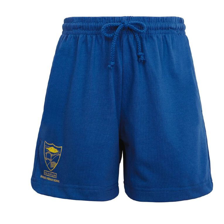 Schooltex Owhata Knit Shorts with Transfers, Royal, hi-res