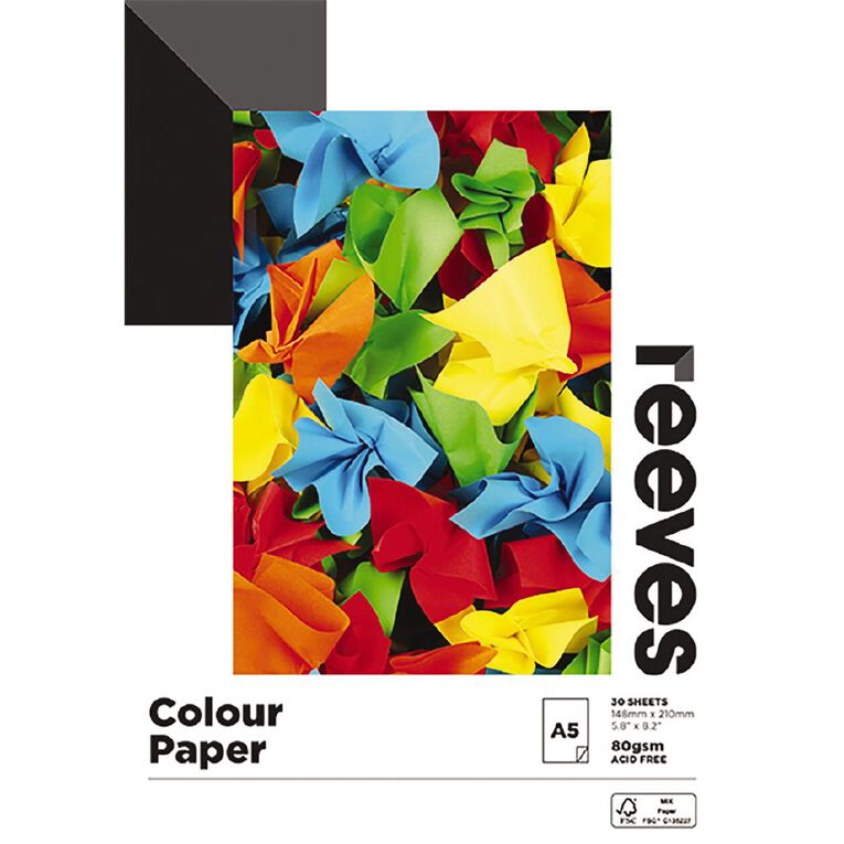 Reeves Colour Pad 80gsm A5 30 Sheets 148mm x 210mm, , hi-res