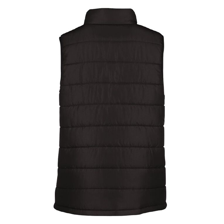 Young Original Plain Puffer Vest, Black, hi-res