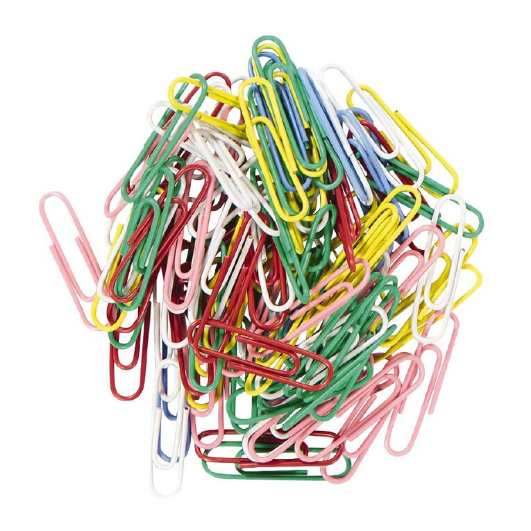 WS Paperclips 33mm 100 Pack Assorted, , hi-res