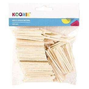 Kookie Matchsticks Natural 500 Pack