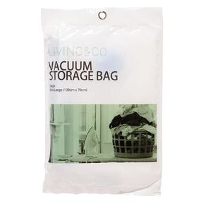 Living & Co Vacuum Storage Bag Extra Large Single Clear