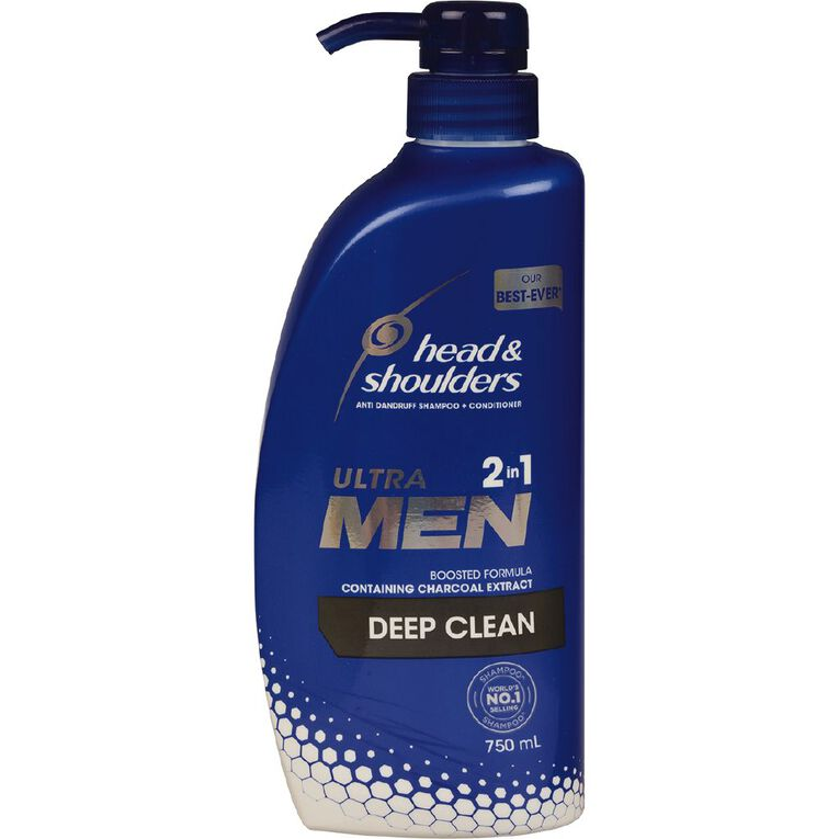 Head & Shoulders Ultra Men 2 In 1 Deep Clean Shampoo 750ml, , hi-res