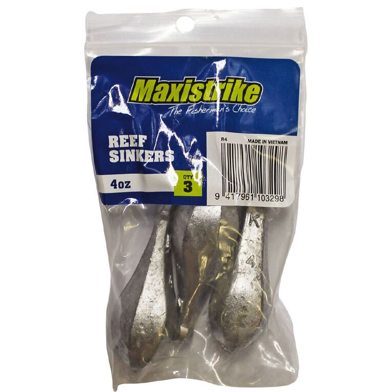 Maxistrike Fishing Sinkers Reef  4 oz 3 Pack, , hi-res