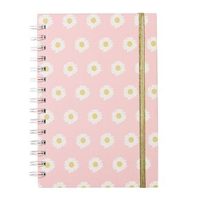 Uniti Blossom Daisy Spiral Notebook Hardcover Pink A5