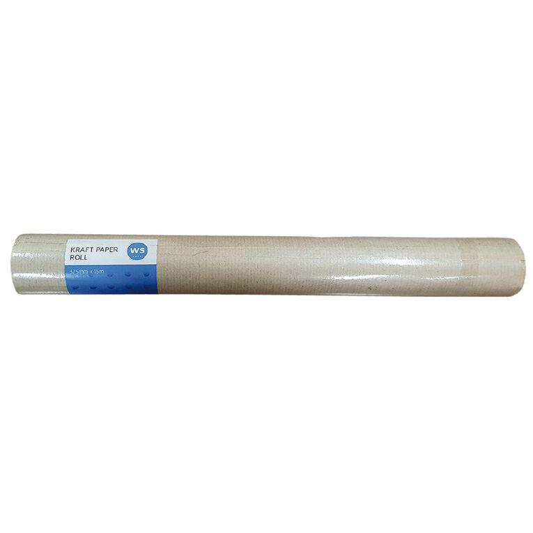 WS Enviro Kraft Paper Roll Brown 375mm X 15m 70gsm, , hi-res