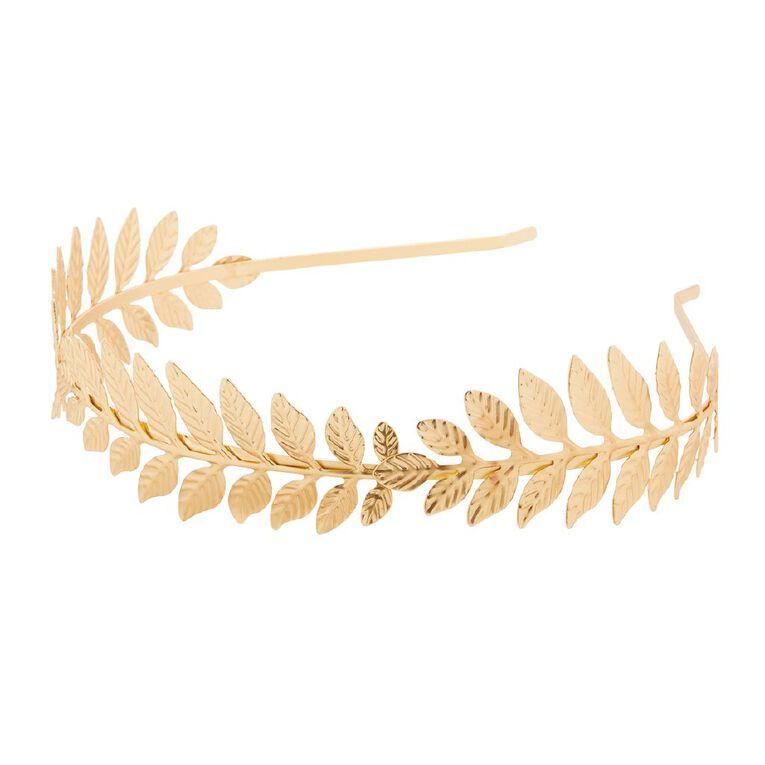 Play Studio Gold Leaf Wreath Headband, , hi-res