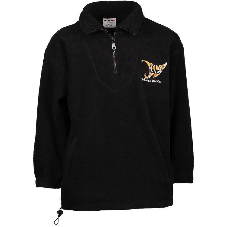 Schooltex Taneatua Polar Fleece Top with Embroidery, Black, hi-res